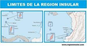 Limites de la region insular
