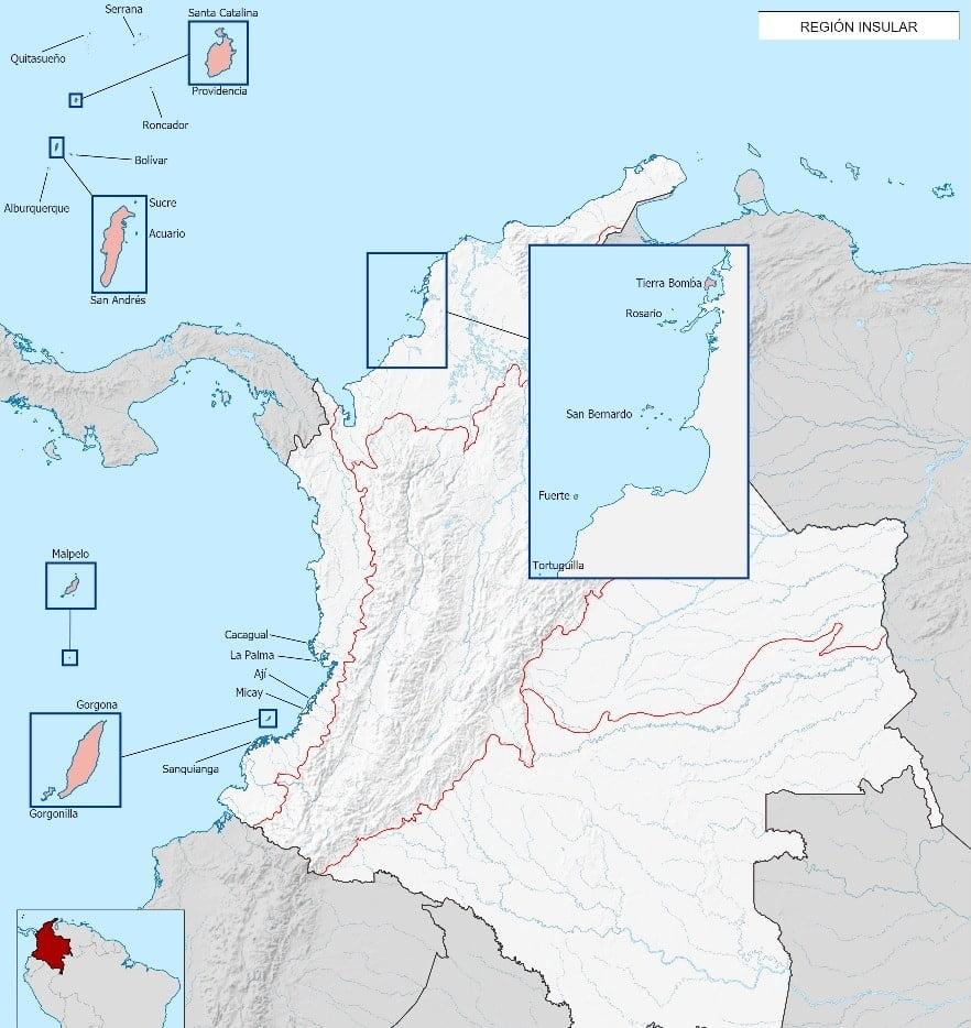 Mapa Region Insular