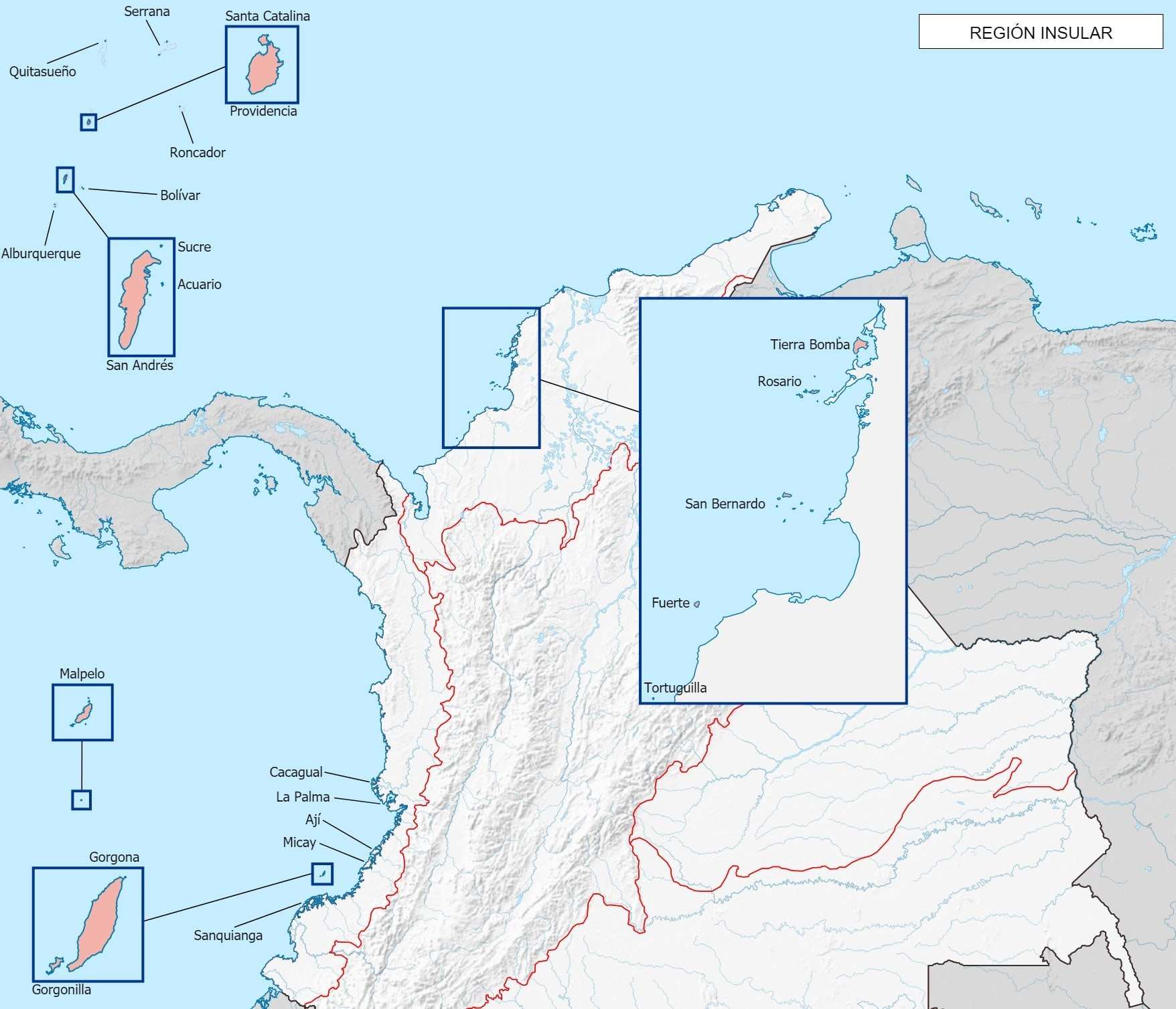 Islas de la Region insular de Colombia