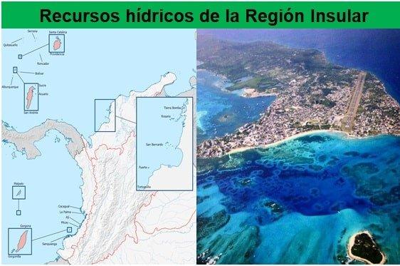 Region insular - recursos hidricos