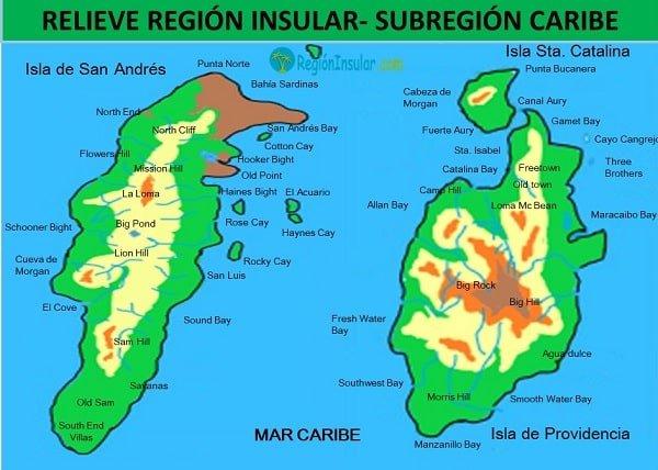 relieve de la region insular