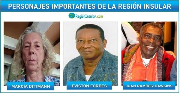 personajes de la region insular