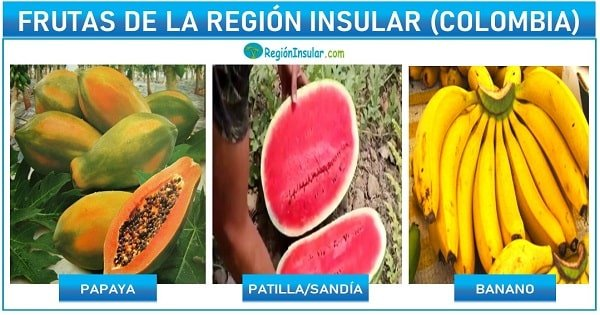 frutas de la region insular