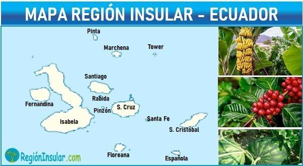 Mapa de la region insular del ecuador
