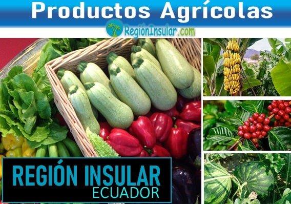Que cultivan en la region insular del Ecuador