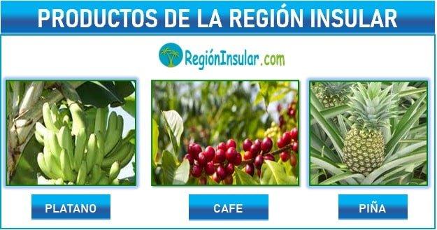 productos agricultura region insular ecuador