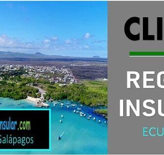 Clima de la region insular del Ecuador